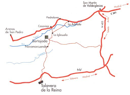 Como llegar a Sartajada